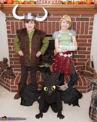 Toothless Dragon Halloween Costume Train Dragon Hiccup Astrid Toothless Group