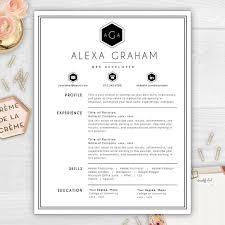 my resume template make your résumé stand out with a beautiful monogram résumé template