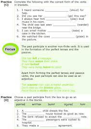 grade 7 grammar lesson 4 verbs non finite forms 2 grade 7