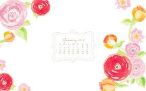 floral wallpaper download with january 2015 calendar mospens studio