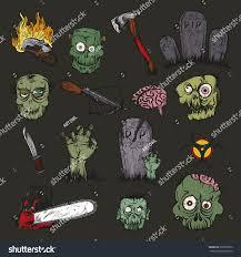 zombie halloween background vector illustration hand drawing zombie apocalypse stock vector