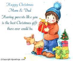 happy christmas mom u0026 dad christmas family cards