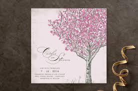 cherry blossom wedding invitations by jenifer martino minted