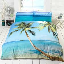 Palm Tree Bedroom Furniture by Amazon Com Palm Tree Beach Double Us Full Duvet Cover And
