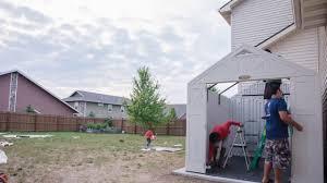 Home Depot Storage Sheds 8x10 by Suncast Tremont 8 U0027 X 10 U0027 Storage Building Installation Youtube