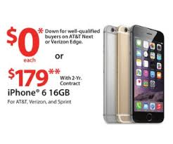 at t iphone black friday deals iphone 6 16gb deal at walmart pre black friday is 0 down for well