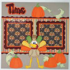 craftecafe thanksgiving premade scrapbook page paper piecing