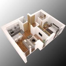 roberto ah minimalist isometric floorplan