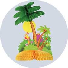 palm tree centerpiece for a luau party or hawaiian party
