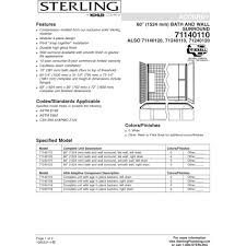 sterling 71240110 0 all pro white panels tubs u0026 whirlpools