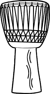 anonymous african drum coloring page wecoloringpage