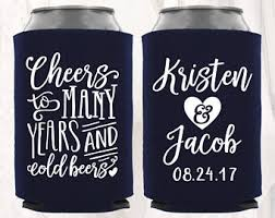 wedding can koozies wedding koozies etsy