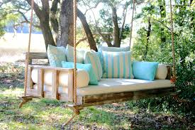 Daybed Porch Swing Wooden Porch Swings In Porch Farmhouse With Swinging Day Bed Next