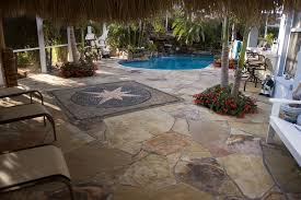 lagoon pool remodel with mosaic flagstone deck lucas lagoons