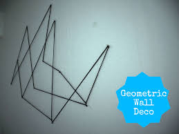 inspiration geometric wall deco une peach