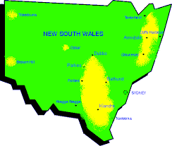 map of new south wales gold maps new south wales