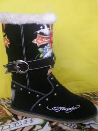 womens boots burning wholesale ed hardy womens boots burning skeleton with rhinestone