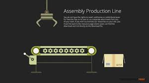 animated free powerpoint template with assembly production line