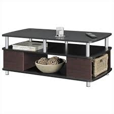 Carson Coffee Table Pemberly Row Carson Coffee Table With Storage In Cherry And Black