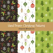 christmas patterns christmas patterns set vector free