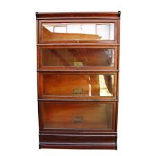 sauder bookcase with glass doors furniture enticing 4 stack barrister bookcase plans fascinating
