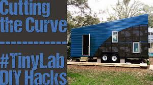 tiny house improvisation 237 cutting the blue metal siding youtube