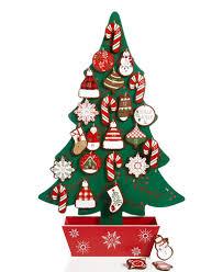 wood tree advent calendar created for