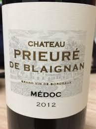 chateau blaignan medoc prices wine château prieure de blaignan médoc 2012 wine info