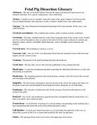 28 fetal pig lab guide vocabulary key fetal pig dissection