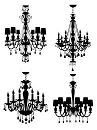 Free Chandelier Clip Art Ornate Chandelier Vector Silhouette Set 07 Vector Silhouettes