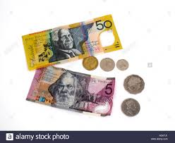 Twenty Five Dollars Australian Dollars Notes And Coins Fifty Dollar And Five Dollar