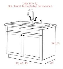 kitchen sink base cabinet and countertop cottage 42 w sink base cabinet