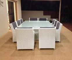 extra large 10 seater outdoor dining set rattan furniture white