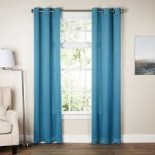 Teal And White Curtains Blue White Curtains Drapes You Ll Wayfair