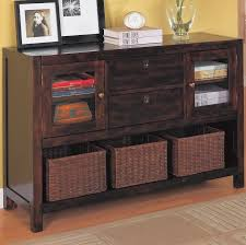 wood and metal console table with drawers classic style living room furniture design with black reddish wooden