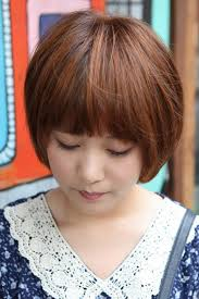 nice koran hairstyles cute korean bob hairstyle with blunt bangs latest korean