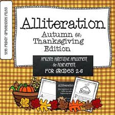 alliteration autumn or thanksgiving edition by the friday