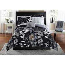 Comforter At Walmart Mainstays Orkasi Bed In A Bag Coordinated Bedding Set Walmart Com