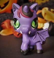 Lps Halloween Costumes Vampire Littlest Pet Shop Ooak Custom Figure Lps Halloween Unicorn