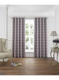 kinley woven check eyelet curtains ponden homes
