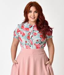blouses for plus size plus size vintage tops retro blouses more unique vintage