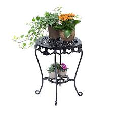 Flower Table L L 51 X 40 Cm Relaxdays Flower Stand Cast Iron Flower