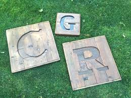custom recycled pallet initial r sign wooden letter sign