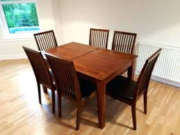 dark wood dining table and chairs ebay uk round gumtree 4 set