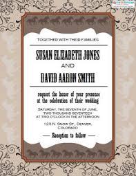 Printed Wedding Programs Western Wedding Invitations