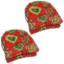 blazing needles 16 inch square patterned outdoor chair cushions