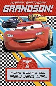 disney cars birthday greeting cards age 3 4 5 6 brother son nephew