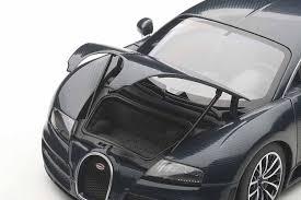amazon com autoart 1 18 bugatti veyron super sports dark blue