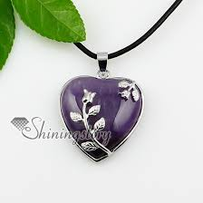 heart stone necklace pendants images Rose quartz opal jewelry with birthstones natural stone pendants jpg