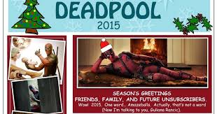 deadpool christmas card wishes you a happy holiday season movieweb